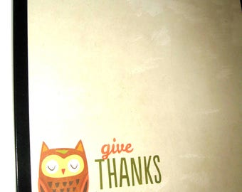 Thanks .. Magnet Dry Erase Memo Board /Housewarming Gift / Office Decor / Desk / Organization / Wall Hanging / Message Board / bird / Wise
