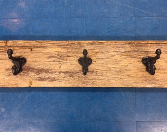 farmhouse barn wood coat rack towel rack rustic reclaimed wood foyer mudroom entry hall lake cottage home Beach House Dreams Outer Banks OBX