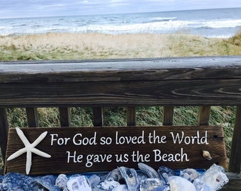 God so loved original exclusive Beach House Dreams™ sign cottage renovation homeowner coastal decor housewarming Beach House Dreams Home OBX