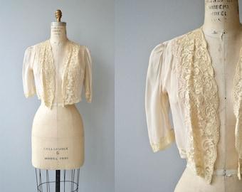 Sarabande lace bolero | vintage 1930s lace jacket | antique lace 30s cropped jacket