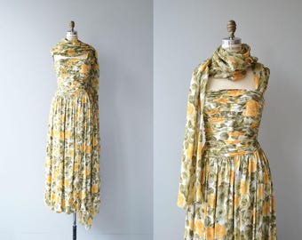 Dorna Rose dress | vintage 1950s dress | 50s floral print dress