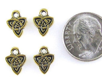 TierraCast Double Sided Pewter Charms-GOLD CELTIC TRIAD (4)