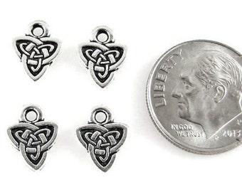 TierraCast Double Sided Pewter Charms-SILVER CELTIC TRIAD (4)