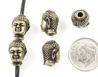 TierraCast Pewter Beads-Brass Oxide BUDDHA HEAD (5)