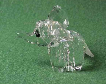 Swarovski Crystal Happy Elephant Figurine signed with Swan logo
