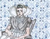 Dutch girl, Ellis Island Portrait