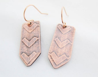 Embossed Chevron Earrings