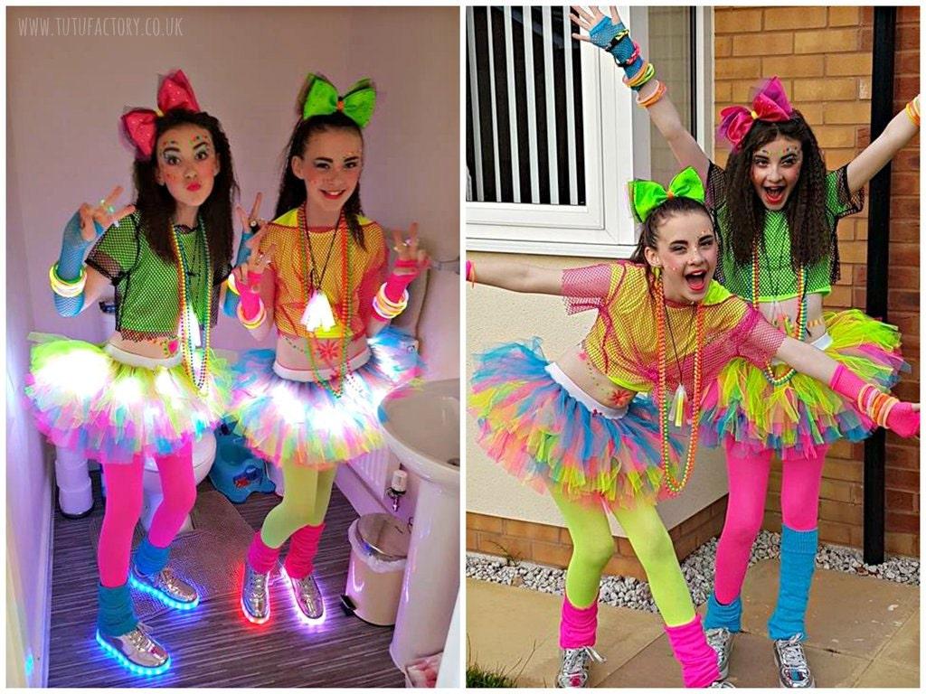 Girls Neon Tutu Light Up Tutu Dance Wear Birthday by tutufactory