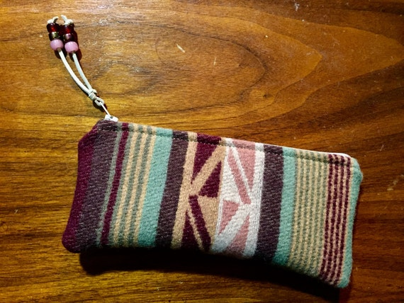 Wool Sunglasses Case / Glasses  Case / Tampon Case / Zippered Pouch
