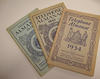 A Look Back in American History Through The Bell Telephone and Telegraph Almanacs: 1934, 1935, 1937