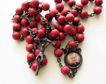 Red Wood Rosary Italy