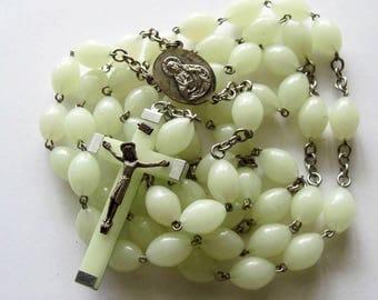 Vintage Glow in The Dark  Rosary