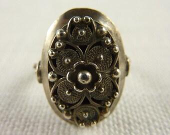 Vintage Sterling Filigree Ring Size 5.75