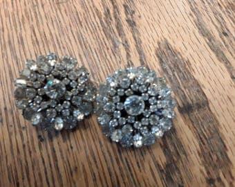 Vintage 1950's Rhinestone Earrings