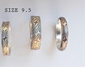 Mokume gane Ring, Size 9.5