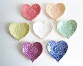 "Wedding favors heart dish, Birthday parties favors, Baby shower Handmade pottery. 3.5"" dish"