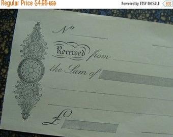 ONSALE Antique French Ephemera Stunning 100 Year Old Unused Receipts Lot