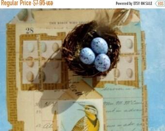 ON SALE Beautiful Blue Speckled Plastic Eggs