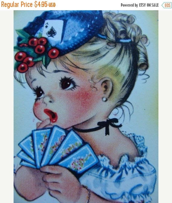 ON SALE Antique Lot of Kitsch Cards Adorable Little Girl Sweetie Pie