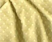 "SALE - Yellow Minky Dot Fabric - 29""x30"" BLANKET CUT - Yellow Dot Minky - Yellow Dimple Minky - Cuddle Minky from Shannon Fabrics"