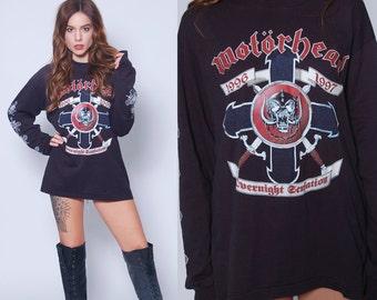 Vintage 90s MOTORHEAD Shirt OVERNIGHT SENSATION Tour Shirt 1996 Rock T Shirt Tour Shirt
