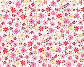 Liberty Fabric Menasse Exclusive Pink Red Tana Lawn Fat Quarter