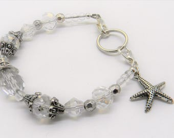 Medic ID Alert Replacement Bracelet for your Tag or Plate, Medical Strand Bracelet to show your Allergies or Condition, CRYSTAL STARFISH