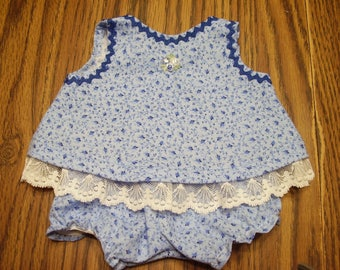 15-17 inch Blue Top and Bloomers
