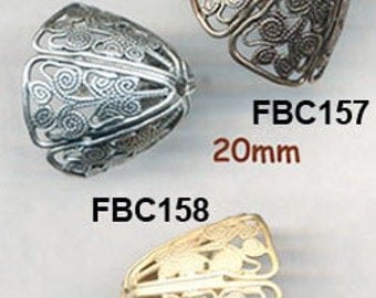 BEAUTIFUL FILIGREE CAPS for Beads 20mm 2 Caps per Order