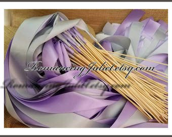 Instead of Rice Jumbo Ribbon Streamer Sticks Multipack..Set of 50 with 25 In Each Color...You choose the Colors..shown in lilac/silver gray
