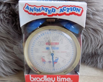 Bradley Time Animated Action Alarm Clock Instant time teacher Factory sealed