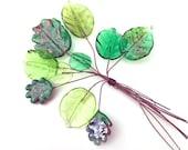 Lampwork Headpins, Decorative Headpins, Lampwork Charms, Charm Headpins, Grassy Fields, SRA Dry Gulch #257