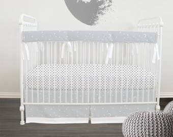 GOTS Certified Organic  100% // Crib bedding // Stokke Bedding  // Oval bedding // Italian Oeko-Tex trim in 30 colors // RTS in  2-3 weeks