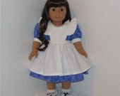 Alice in Wonderland Dress, Fits 18 Inch American Girl Dolls