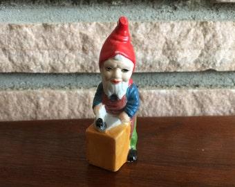 Vintage Bisque Elf Ornament
