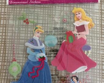 New-Scrapbooking Dimensional Stickers Disney Cinderella Aurora with Snow White