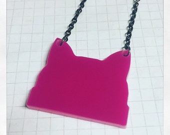 Pussy Hat Necklace