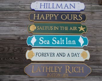 Quarterboard Signs . . Beach House sign . . Cottage sign . . Lake House sign. . Nautical signs . . Distressed signs . . Personalized signs