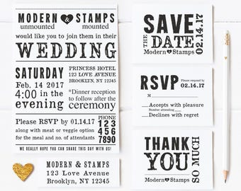 Custom Rubber Stamp   Custom Stamp   Personalized Stamp   Wedding Invitation Stamp   Wedding Invitation Suite   MOUNTED