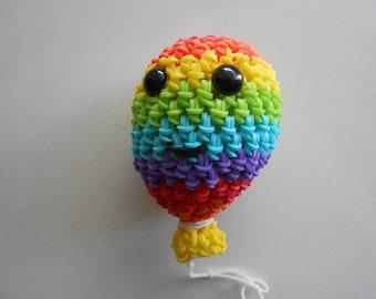 Rainbow Loom Loomigurumi Rainbow Balloon