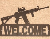 AR 15 Address SIGN  reading 27742  18 inches wide