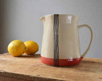 SALE! Pitcher in Red Stripes - Ready To Ship