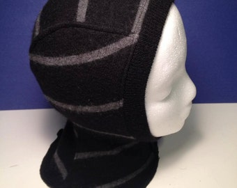 Black and Grey Recycled Merino Baby / Toddler Balaclava