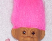Flower Girl Troll .. 3 inches .. Russ Troll Doll .. Wedding
