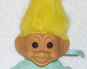 Get Well Soon Troll .. Russ Troll Doll.. 4.5 inches .. Hospital Gown