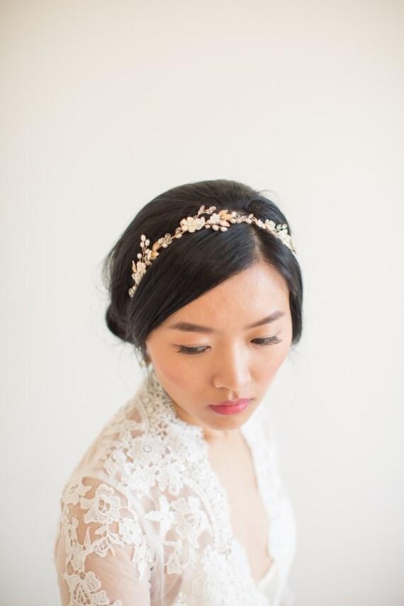 vigne de cheveux headband mariage parure de t te bandeau de. Black Bedroom Furniture Sets. Home Design Ideas