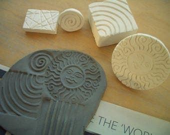 FLOWER, Swirl, Sun, TEXTURES - Clay Stamps