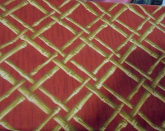 Home Dec fabric bamboo Rust color fabric by the yard wide