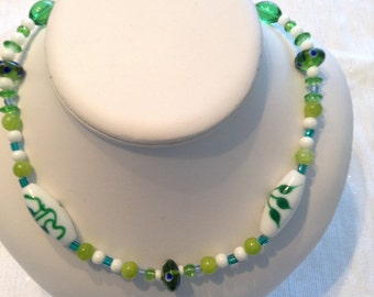 The Greens of Springtime Necklace