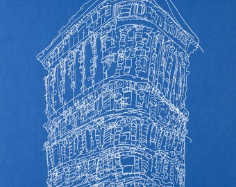 Blue Flatiron Building